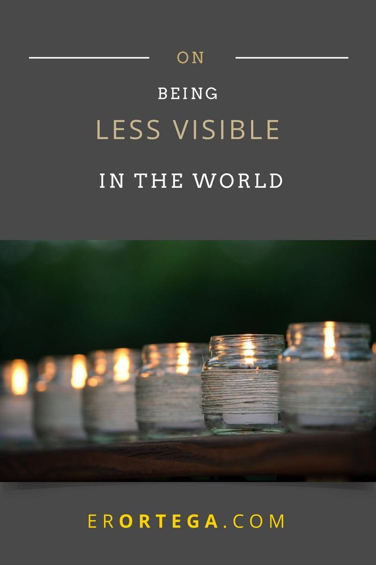 less visible