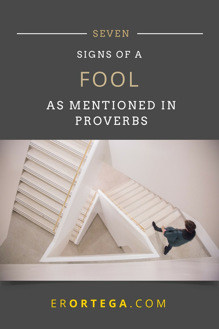 seven signs of foolishness